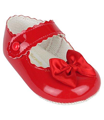 BabyPrem Bebé Zapatos Suela Suave Patente Abenico Niñas 0-18 Meses EUR 16-19 Rojo