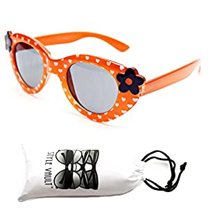 Kd209-vp Style Vault Kids 2-8yr Shape Sunglasses (8108 Orange, UV400)