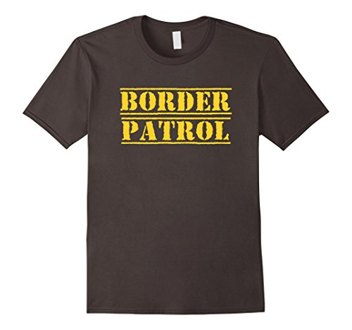 Mens Border Patrol Easy DIY Halloween Costume 2017 T-Shirt Medium (Diy Mens Halloween Costumes)