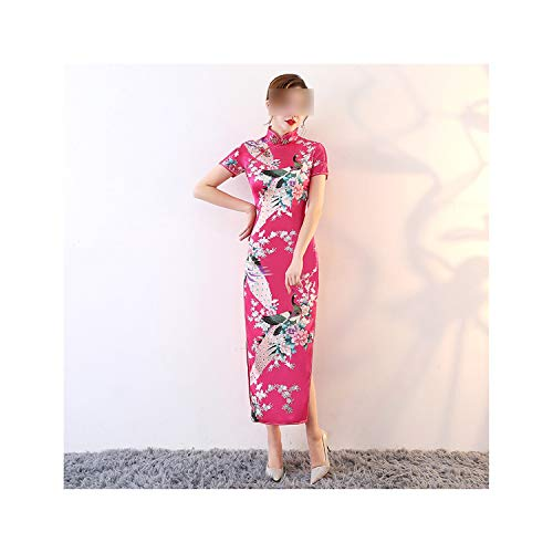 8 Colors Long Style Pattern Embroidery Silk Chinese Cheongsams Dress Spring Festival Wedding Dress