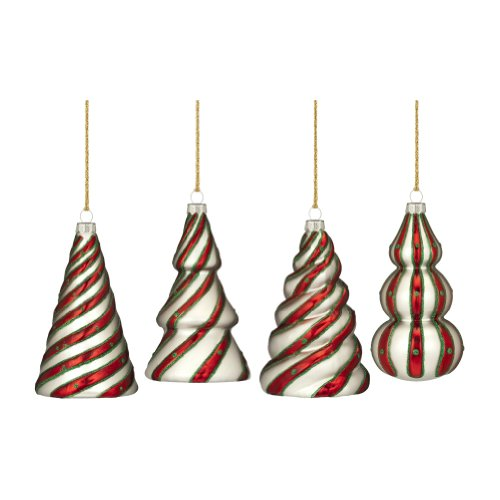 (Marquis by Waterford Candy Cane Tree Ornaments, Set of 4)