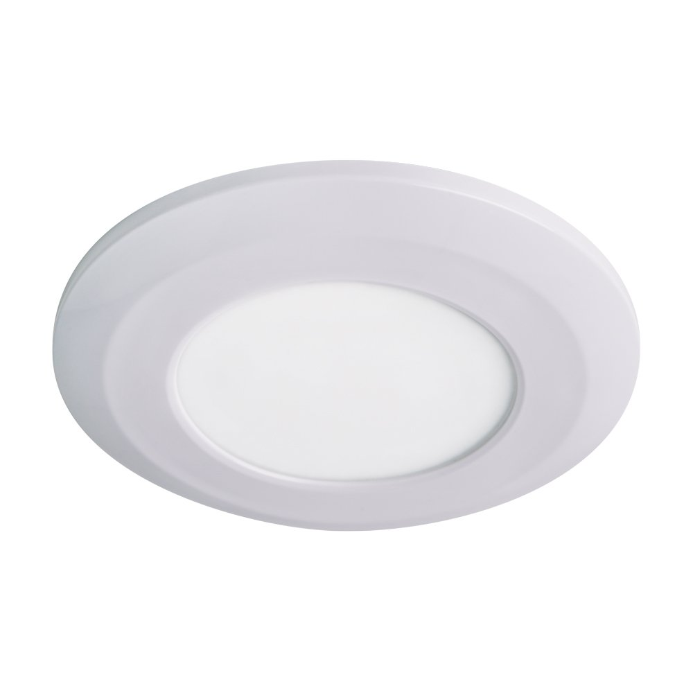 Armacost Lighting 214411 3-3//4 Round Flat Panel Fixture Soft Bright White 3000K Wafer Thin LED Puck Light Fully Dimmable with Standard Dimmers and Surface Mount Installation, 3000K