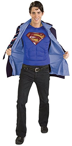 [UHC Men's Superman Returns Clark Kent Marvel Superhero Costume, X-Large (46-50)] (Marvel Super Villains Costumes)