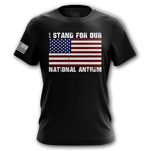 1950s Mens Hats - Tactical Pro Supply American Flag Military Army Mens T Shirt (I Stand, X-Large)