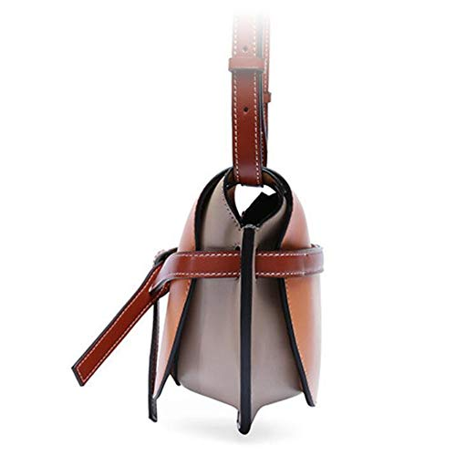 Retro Femme Bag Sxuefang main Oblique Leather à Cross 24x10x20cm Sac PIUUpqA