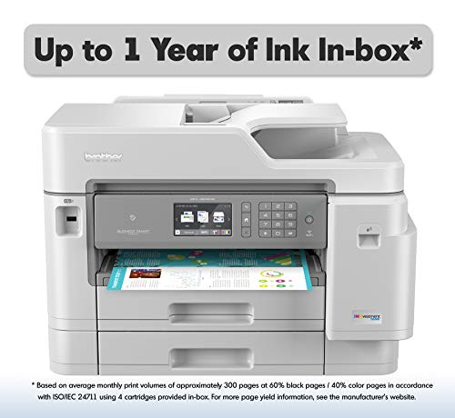 Brother Inkjet Printer, MFC-J5945DW, INKvestment Color Inkjet All-in-One Printer with Wireless, Duplex Printing, NFC and Up to 1-Year of Ink in-Box, Amazon Dash Replenishment Enabled ()