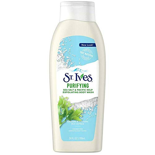 St. Ives Purifying Sea Salt & Pacific Kelp Exfoliating Body Wash 24 oz (Pack of -