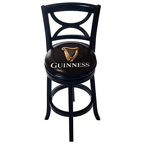 (Trademark Gameroom GN1111 Guinness Swivel Wood bar Stool with Back)