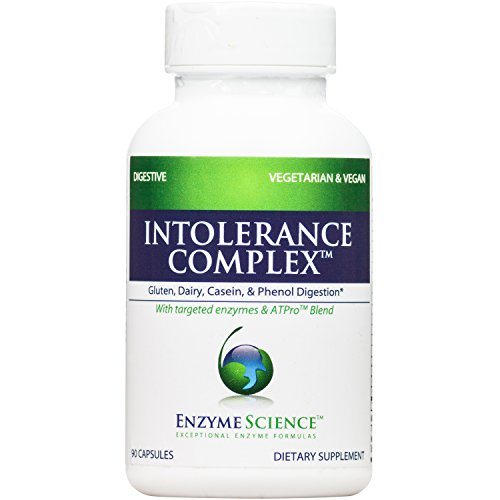 Enzyme Science - Intolerance Complex, Comprehensive Support to Relieve Common Digestive Sensitivities to Dairy, Lactose, Gluten and Casein with Enzymes and Probiotics, Vegan, 90 Capsules