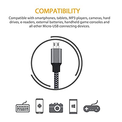 EverDigi 3 Pack Micro USB Cable Cord