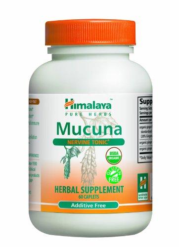 Himalaya Pure Herbs Mucuna, Nervine Tonic, 60 Caplets,  (Pack of 2) (Nervine Tonic)