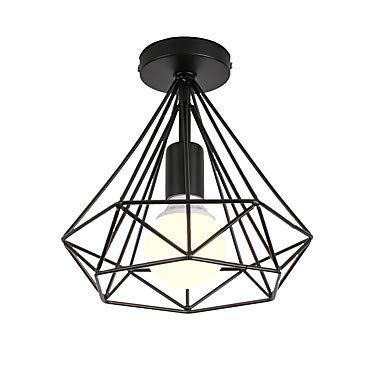 shengshiyujia Loft Vintage, Mini Forma de Diamante, lámpara ...