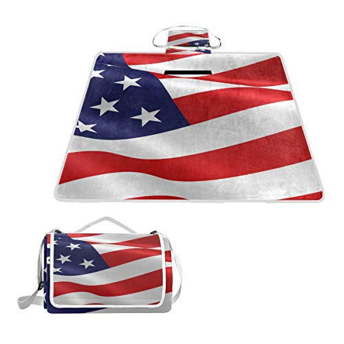 American Flag Flap Mud (LORVIES American Flag Picnic Blanket Tote Handy Mat Mildew Resistant Waterproof Camping Mat Picnics, Beaches, Hiking, Travel, RVing Outings)