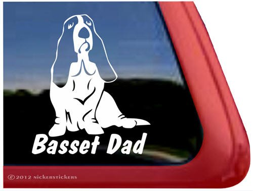 Basset Hound Vinyl Window Sticker