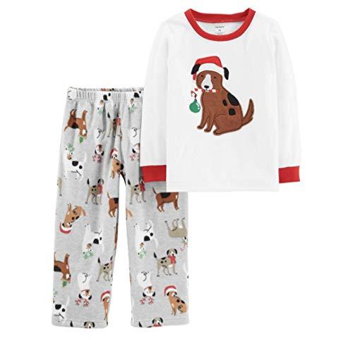 Carter's Toddler Boys Girls Fleece Puppy Dog Christmas Pajamas (3T)