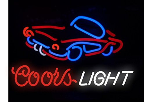 Mirsne neon signs, glass tube neon lights, 24'' by 20'' inch Coors Light neon signs bar, the best neon sign custom supplied for a wide range of personal uses.