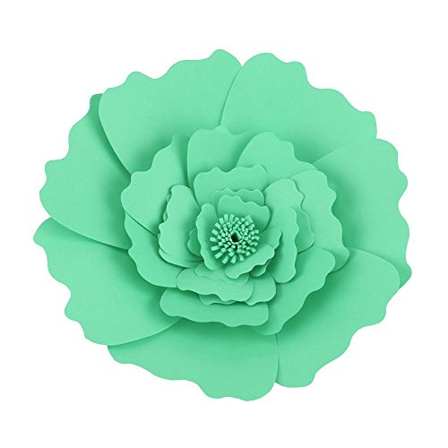 (Pack of 2) Paper Flowers Handcrafted Flowers Paper Pompoms Perfect for Wedding Decor Birthday Celebration Wall Decoration Baby Shower(Light ()