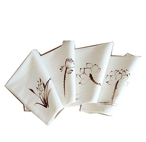 Ladies Chinese Antique Style Soft Cotton Linen handkerchiefs