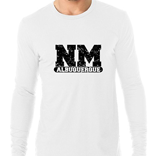 (Albuquerque, New Mexico NM Classic City State Sign Men's Long Sleeve)