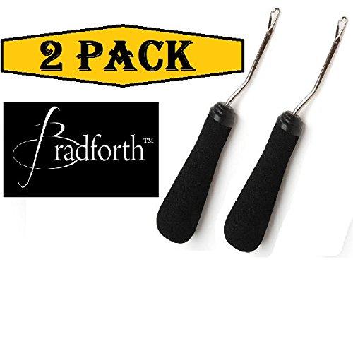(Set of 2) Bradforth Latch Hook Tool Bent Foam Grip