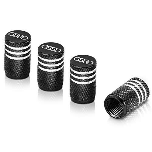 Qideloon Tire Valve Caps,Aluminum Valve Stem Caps Compatible with Audi Accessories Car,Trucks,Motorbike 4pcs