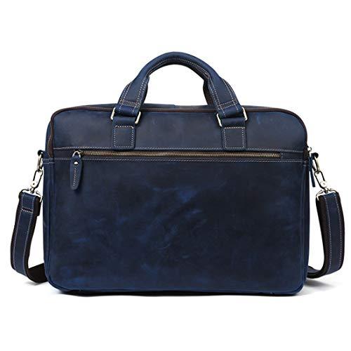 Cartable Sac Collège Bandoulière À Honneury Mallette En Cuir Blue Bag Étanche Véritable Portable Vintage Mens Messenger Ordinateur Grand wSwFq8za
