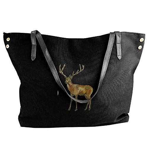 (YongQingHui Elk Series B430 Women's Casual Top Handle Bag Weekend Shopping Bag)