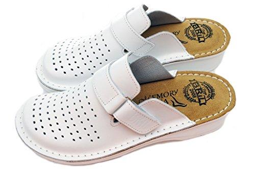 en Femme Mules Cuir Chaussures Punto Blanc Chaussons BRIL Dr Sabots Rosso Dames D52 Fxfw1wT8q