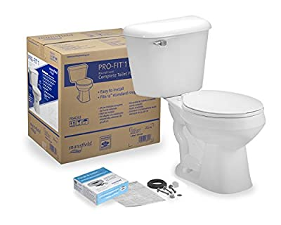 Mansfield Plumbing Pro-Fit 1 Round Front 1.6 GPF Complete Toilet Kit