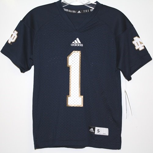 Notre Dame Fighting Irish Adidas Youth #1 Replica Jersey Navy (Adidas Notre Dame Irish Replica Football)