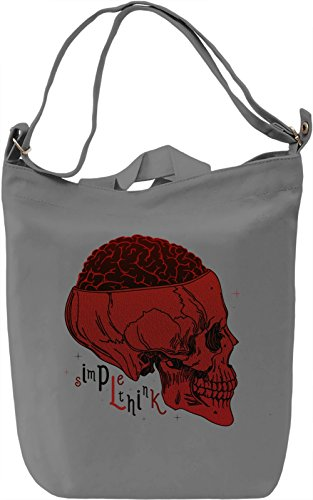 Brain Skull Borsa Giornaliera Canvas Canvas Day Bag| 100% Premium Cotton Canvas| DTG Printing|