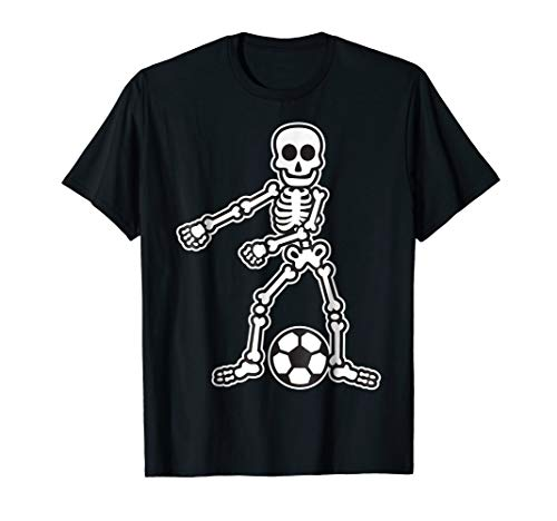 Flossing Skeleton Soccer Player Halloween Costume Shirt -