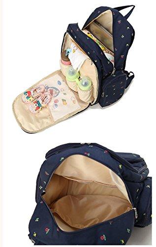 Bebé Cambiador de bolsos de pañales Elegante diseñador de viajes y Organizador para las mujeres y los hombres Multifunción Baby Pañal Pañal Bolsa