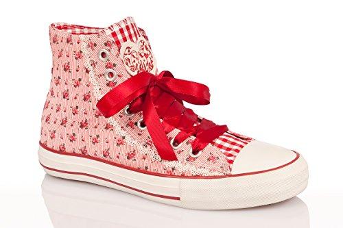 blau Damen rot Sneaker Rot Trachten NELI tPOFnq