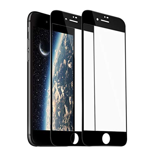[2 Pack] iPhone 7 Plus 8 Plus Screen Protector, Rheshine iPhone 7 Plus 8 Plus 3D Touch Layer Scratch-Resistant No-Bubble Carbon Fiber Screen Protector for iPhone 7 Plus iPhone 8 Plus (Black)