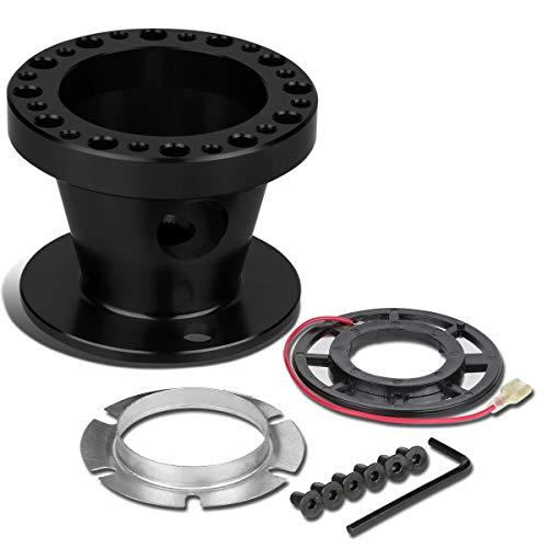 Aluminum Steering Wheel 6-Hole Hub Adaptor Kit (Black) For 200ZX / 240SX / 300ZX / Sentra/Maxima