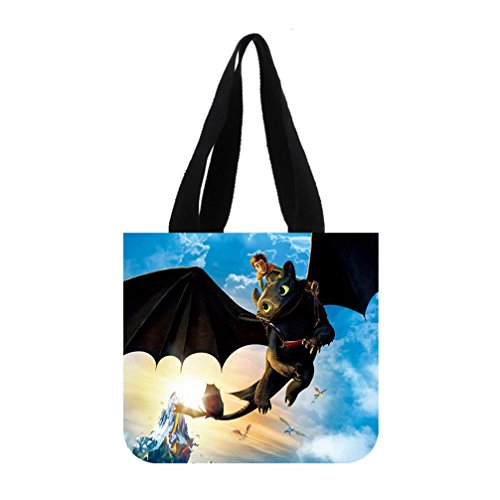 DAZZZLING NEW TREND Halloween Costume Fond D ¨¦cran Dragon Custom Tote Bag 02 (2 sides) (Dragon Lord Costume)