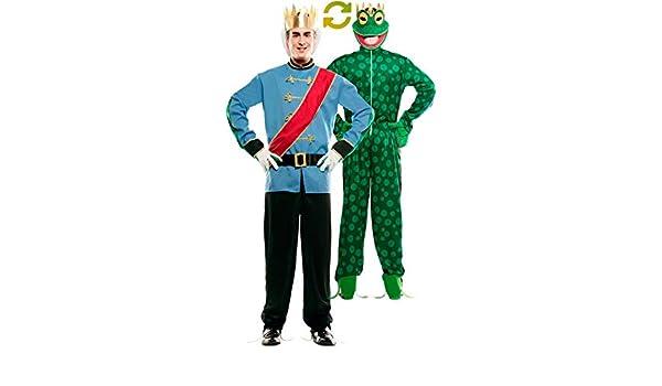 EUROCARNAVALES Disfraz Doble de Príncipe Azul y Rana para Hombre ...
