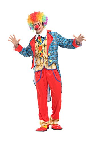 Rubber Johnnies  Adult Tuxedo Clown, Joker, Jester, Circus Costume, One Size
