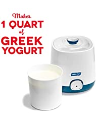 Dash Bulk Yogurt Maker Machine with One Touch Display + BPA-Free Storage Container & Lid: Perfect for Organic, Sweetened, Flavored, Plain, or Sugar Free Options for Baby, Kids, & Parfaits, 1 Quart