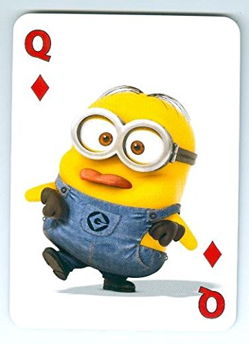 Despicable Me Minion trading game card Queen Diamonds 2x4 Raspberry