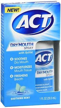 ACT Dry Mouth Spray Soothing Mint - 1 oz, Pack of 5 CHATTEM INC