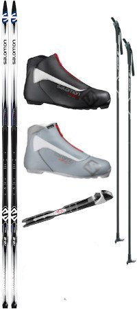 - Salomon Escape 5 Grip Cross Country Ski Package (Skis, Boots, Bindings, Poles)