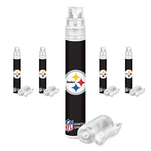 Pittsburgh Steelers Hand Sanitizer Spray Pen 5-Pack. NFL Gifts, Ideal for Father's Day, Stocking Stuffers -
