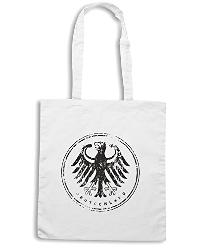 T-Shirtshock - Bolsa para la compra WC0369 GERMANY T-SHIRT - DEUTSCHLAND ICON Blanco