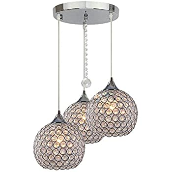 DINGGU™ 3 Lights Modern Crystal Ball Pendant Light Fixture Flush  Mounted Ceiling Chandelier