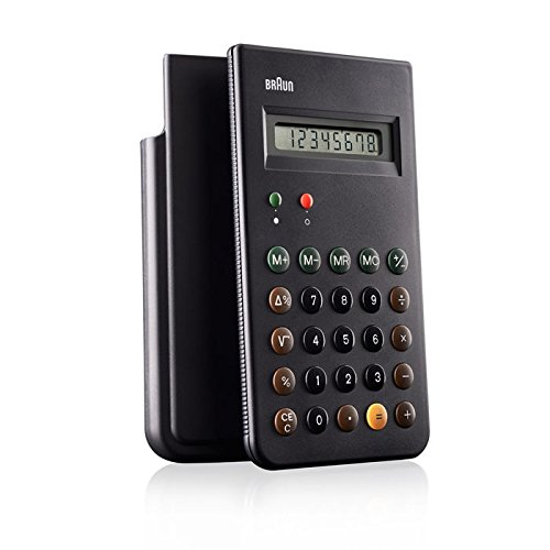 Price comparison product image Braun BNE001BK (Reissue of the Braun ET66 Calculator),  Black