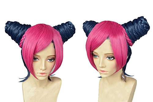 Jolyne Kujo Wig Bizarre Adventure Short Pink Anime Braids Cosplay Wig - Jolyne Kujo Costume