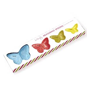 Two's Company Butterfly Measuring Spoon Set in Gift Box