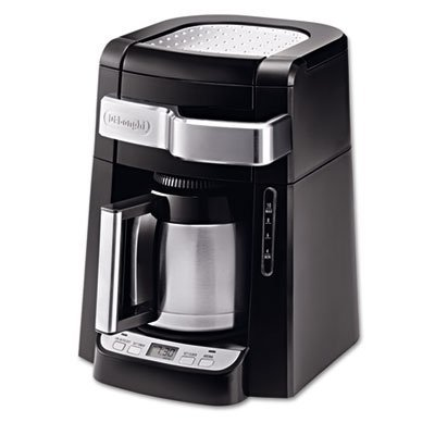 ** 10-Cup Frontal Access Coffee Maker, Black ** by DELONGHI